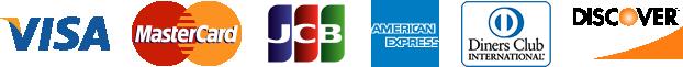 対応クレジットカード:VISA、MasterCard、JCB、AMERICANEXPRESS、DinersClub、DISCOVER